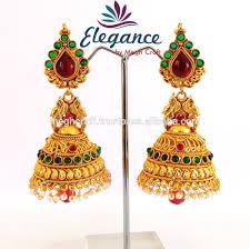 gold jhumka earrings design gold earrings for women in india luxury green gold earrings for