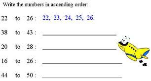 ascending order or descending order bigger to smaller number