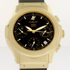 hublot gold bracelet images Men 39 s 18k yellow gold hublot chronograph elegant ref 1810 3 jpg