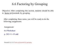 factor by grouping worksheet algebra chapter 6 factoring worksheet