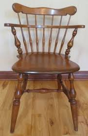ethan allen desk chair ethan allen heirloom solid maple comb back side chairs 6040 nutmeg