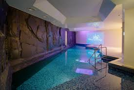 awesome classic indoor swimming pool design with spa scheme for