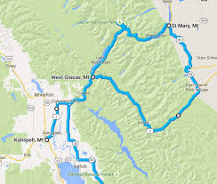 Whitefish Montana Map by 2015 Trip To Glacier Steel Horse Journeys