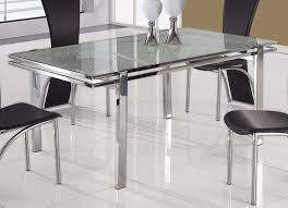 glass top tables with metal base dining tables inspiring steel dining table steel dining table