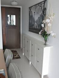 Narrow Entryway Cabinet Our Small Entryway Ikea Hemnes Shoe Cabinet Making A House A