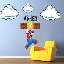 Super Mario Bedroom Decor Super Mario Bros Web Art Gallery Mario Wall Decals Home Decor Ideas