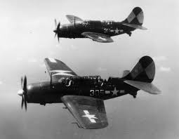 Squadron Canopies by Two Sb2c 4 U0027s Of Bombing Squadron 83 Vb 83 Pictured In Flight Over