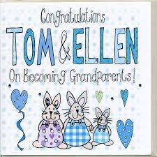 new grandparents personalised congratulations card by