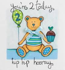 teddy bear 2nd birthday card karenza paperie