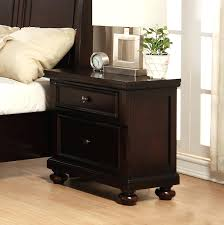 a bedside table in dark stain ash dark wood bedroom furniture