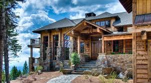 western rustic timber u0026 stone montana mountain ski home