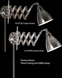 kenroy swing arm wall l swing arm wall ls deep discount lighting