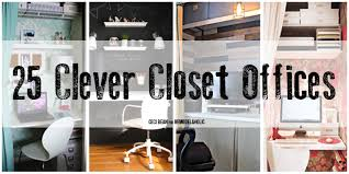 Closet Office Desk Remodelaholic 25 Clever Closet Offices