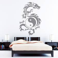 Schlafzimmer Yin Yang Drache Tribal Yin Yang Wandtattoos