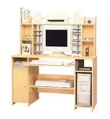 bureau ordinateur bois petit bureau pour ordinateur et imprimante en bois meuble portable