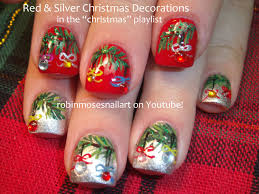 christmas nails decorations how you can do it at home pictures