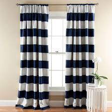 Curtain Pair Lush Decor Stripe Blackout Window Curtain Pair Walmart