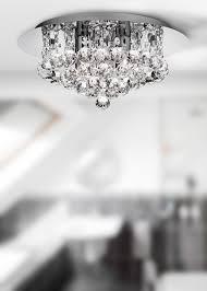searchlight 4404 4cc hanna 4 light crystal ip44 bathroom ceiling