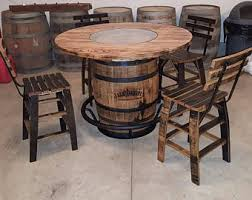 Whiskey Barrel Chairs Whiskey Barrel Table Etsy