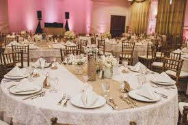 Light Pink Table Cloth Light Pink Gold And Romantic At Lake Mary Events Center