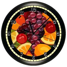 themed clocks fruit wall clock themed clocks ouest usa