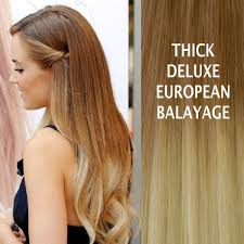 balayage hair extensions 26 thick ombre balayage 10 613 brown remy human hair
