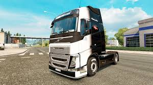 volvo 2010 truck the black and white skin for volvo truck for euro truck simulator 2