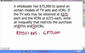 linear inequalities word problems youtube