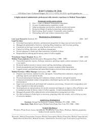transcribing resume objective ideas for research medicalanscriptionist sle resume no experience format for medical