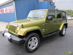 jeep sahara green 2008 rescue green metallic jeep wrangler unlimited sahara 4x4