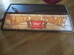 Miller Genuine Draft Pool Table Light Vtg Miller Girl Time Beer Giant 47 Long Pool Table Light Up Sign