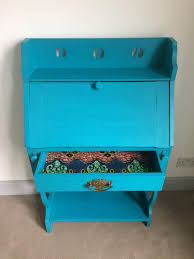 bureau turquoise bureau bright blue statement fabric drawers and compartments