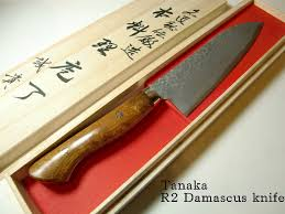 tanaka special knife nakiri 165mm 64 layers r2 damascus kitchen