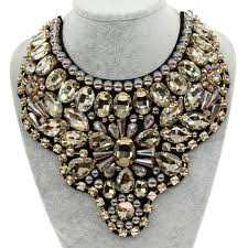 big necklace images Manilai women handmade exaggerate crystal big necklace bead bib jpg