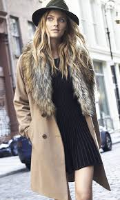 sweater with faux fur collar belted coat sweater dress fedora express