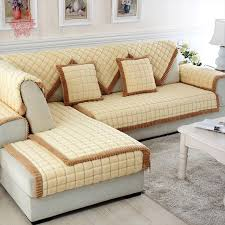 Beige Sectional Sofas Coffee Beige Plaid Quilting Sofa Cover Sectional Slipcovers