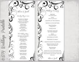 wedding program order rustic sunflower wedding program template order of service with