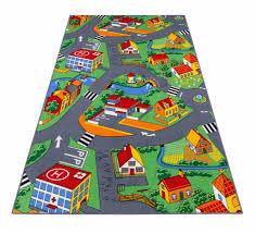 Colorful Kids Rugs by Kids Rug Little Village Carpet City Street 100x165 Cm