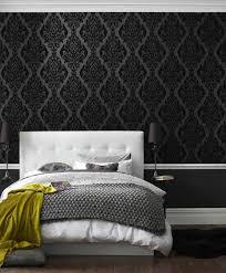 papier peint de chambre a coucher papier peint noir 40 idées pour un design mural spectaculaire