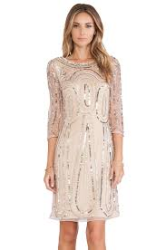 raga long sleeve sequin dress in gold revolve