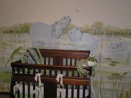 nursery wall murals by mural artist juli simon in orlando fl hippo nursery wall mural