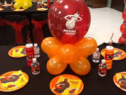 party supplies miami basketball themed centerpieces miami heat basketball jersey