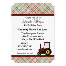 tractor birthday invitations u0026 announcements zazzle