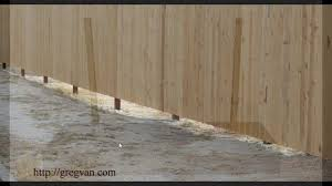 problems with uneven ground and straight fences u2013 landscaping and