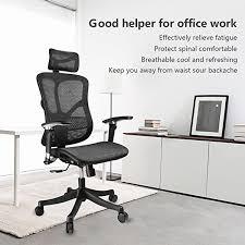 amazon com argomax mesh ergonomic office chair em ec001