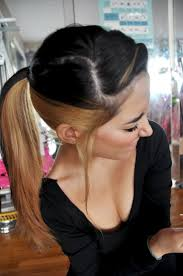 darker hair on top lighter on bottom is called i definitely want this but reversed dark on bottom and light on