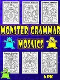 parts of speech grammar mosaics nouns verbs adjectives adverbs