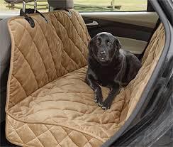 Brown Car Interior Deluxe Dog Hammock Car Seat Protector Deluxe Microfiber Car