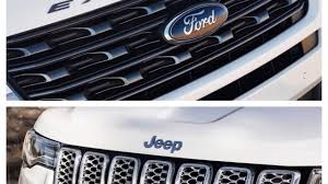 jeep ford 2017 jeep grand cherokee 2017 vs ford explorer 2017 car show youtube