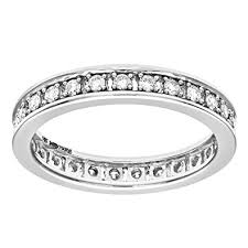white gold eternity ring naava 18ct white gold half carat diamond eternity ring